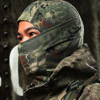 Tight Camouflage Tactical Airsoft Hunting Outdoor Paintball Motorcycle Cycling Beanies Protection Full Face Mask CF