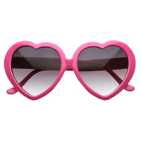 Vintage 60's Hot Pink Heart Shaped Sunglasses