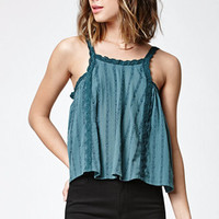 LA Hearts Goddess Neck Gauze Tank Top at PacSun.com