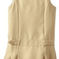 Nautica Little Girls'  Uniform Jumper Dress, Khaki,5