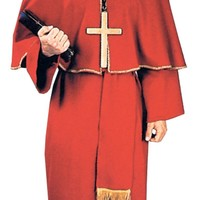 Cardinal costume for Halloween