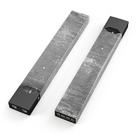 Distressed Silver Texture v7 - Premium Decal Protective Skin-Wrap Sticker compatible with the Juul Labs vaping device