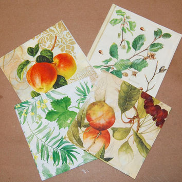 Decoupage Fruit and Leaves Set - 4 Paper Napkins for Decoupage, Collage, Scrapbooking and Paper Craft Projects