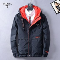 Boys & Men Prada Fashion Casual Quilted Cardigan Jacket Coat Hoodie