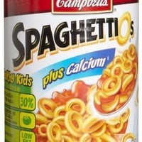 Campbell's SpaghettiOs plus Calcium, 15 Ounce Cans (Pack of 12)
