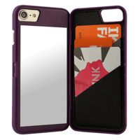 Purple Mirror Wallet iPhone Case
