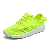 2018 New Styles Neon Color Air Mesh Breathable Summer Walking Shoes For Woman Ladies Sports Running Outdoor Sneakers for Female