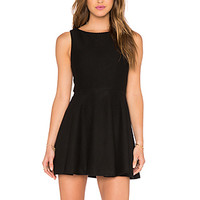 Monah A-Line Dress in Black