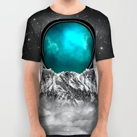 Fade Away (Lunar Eclipse) All Over Print Shirt by Soaring Anchor Designs