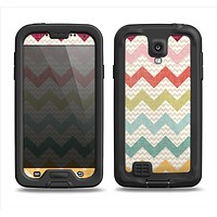 The Vintage Summer Colored Chevron V4 Samsung Galaxy S4 LifeProof Nuud Case Skin Set