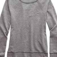 Aerie 's Crew Sweatshirt (Dark Heather Grey)