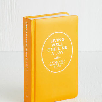 Dorm Decor Living Well One Line a Day by Chronicle Books from ModCloth