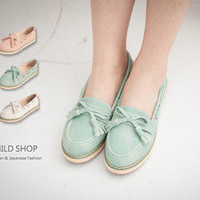 NEW Candy Bowknot Loafer Moccasin Flat Shoes Girl Japanese Korean Fashion Style