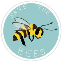 'Save the Bees!' Sticker by AlexisCreations