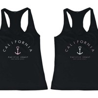 California Pacific Coast Friendship BFF Tank Tops