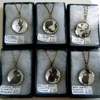 Disney Silhouette Cameo Necklace Collection by KawaiiCandyCouture