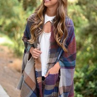 All My Love Poncho - Camel