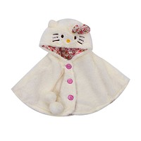 Lovely Baby Girls Clothing Outfits Coats Hooded Cloak Jacket Outwear Cute Animals Kids Warm Coat Clothes