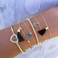 Butterfly Tassle Stack