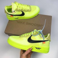 Nike Air Force 1 low Off-White 'Volt' Sneakers
