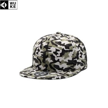 Trendy Winter Jacket WUKE Camouflage Male Baseball Cap Army Snapback Caps For Male Adjustable Flat Brim Casquette Homme Hat 55-61cm Men's Caps AT_92_12