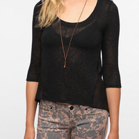 Urban Outfitters - Pins and Needles Chiffon Back Sweater Knit Top