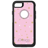 DistinctInk™ OtterBox Commuter Series Case for Apple iPhone or Samsung Galaxy - Pink & Gold Print - Stars Pattern