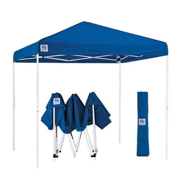 Blue 10-Ft x 10-Ft Easy Up Canopy with Roller Carry Bag