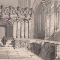 Antique Print - Glasgow Cathedral - Scotland (A40) by Grandpa's Market