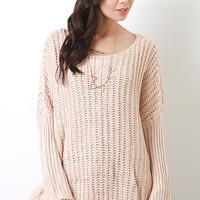 Curved Hem Knit Top