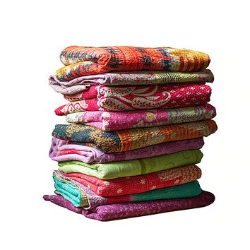 Kantha Stitch Reversible Throw