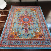 0532 Light Blue Oriental Area Rugs