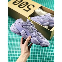Kanye West X Adidas Yeezy 500 Purple Boost Women's Sport Running Shoes
