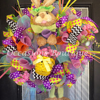 XL Easter Wreath, Easter Decoration, Spring Wreaths, Wreath for door, Whimsical Wreath, Front door wreaths, Ready to Ship