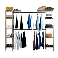 Seville Classics Expandable Closet Room Organizer - Chrome