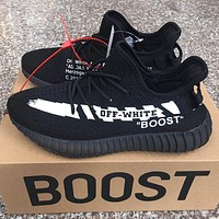 ADIDAS x Off White Yeezy Boost 350 V2 Woman Men Fashion Sport Sneakers Shoes-1