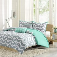 Intelligent Design ID10-231 Nadia Comforter Set Twin/Twin X-Large Teal,Twin/XL