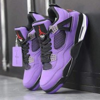 Travis Scott x Air Jordan 4 Purple - Best Deal Online