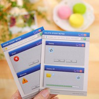 60Pages/Set Cute Computer System Shape Memo Pad Diy Stickers Diary Stationary Set Kawaii Stickers Cute   Office Supplies