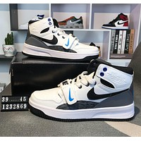 Nike Jordan 1 x Force 1 Trending Stylish Leather High Tops Sport Shoes Basketball Sneakers