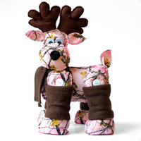 Pink Camo Reindeer - Country Girl Decor - Pink Camouflage stuffed Reindeer - Country Home Decor - Valentines Day Gift for Her