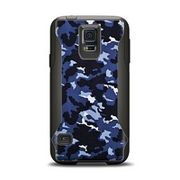 The Blue Vector Camo Samsung Galaxy S5 Otterbox Commuter Case Skin Set