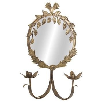 Pre-owned Brass Mirror Sconces - A Pair