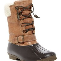 DCCKHB3 Sperry | Saltwater Misty Genuine Shearling Lined Duck Boot
