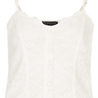 Button Front Lace Cami - New In This Week - New In - Topshop USA