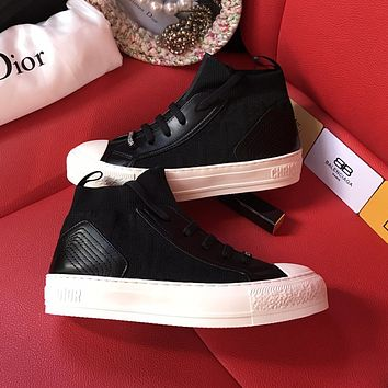 Dior hot sale fashion low-top flat lace-up sneakers shoes