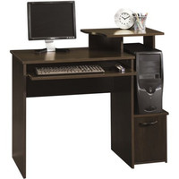 Student College Office Small Space Dorm Room Computer Writing Desk, Cherry