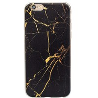 Black Gold Marble Stone Case for iPhone 7 7Plus & iPhone se 5s 6 6 Plus Best Protection Cover +Gift Box