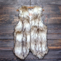 womens autum winter wild child faux fur vest top