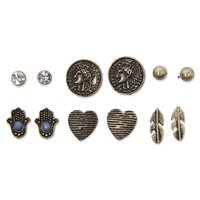 With Love From CA Coin Earring Pack - Womens Jewelry - Gold - One